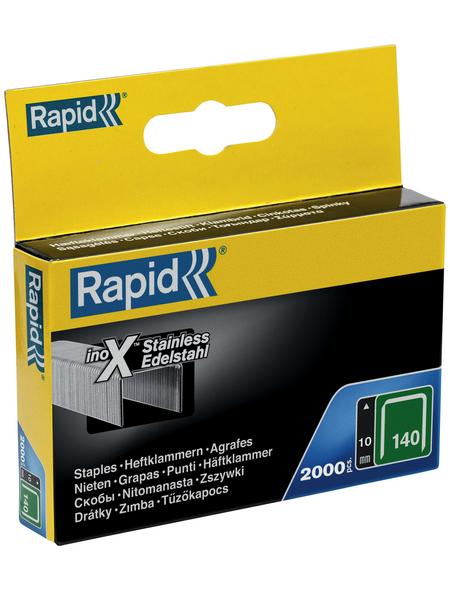 RAPID Tackerklammern, 10 mm, Heftklammer Typ 140, 2000 St., in Schachtelverpackung