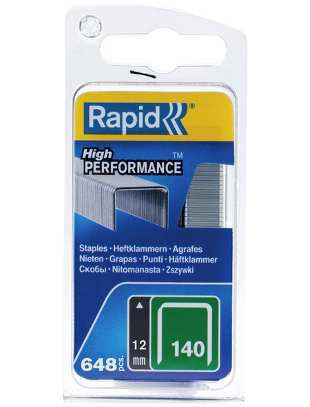 RAPID Tackerklammern, 12 mm, Heftklammer Typ 140, 650 St., in Blisterverpackung