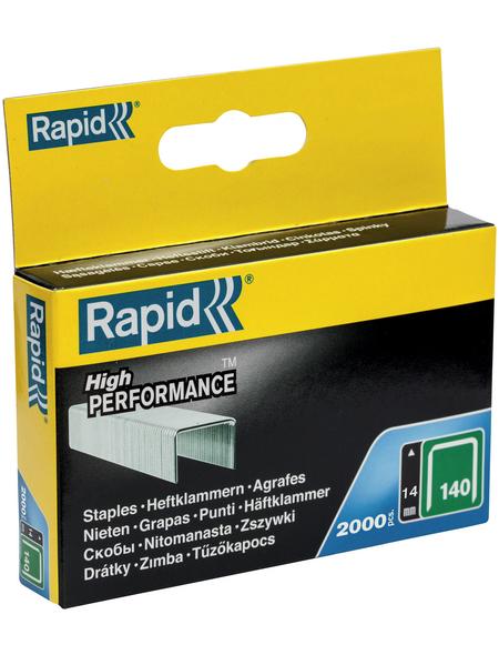 RAPID Tackerklammern, 14 mm, Heftklammer Typ 140, 2000 St., in Schachtelverpackung