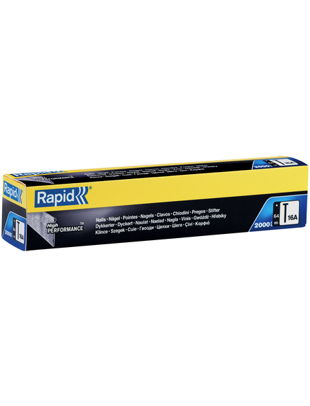 RAPID Tackernägel, 64 mm, Nageltyp 16A, 2000 Stück, Kartonbox