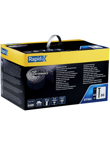RAPID Tackernägel, 65 mm, Rahmennägel Typ 50, 2700 Stück, Kartonbox