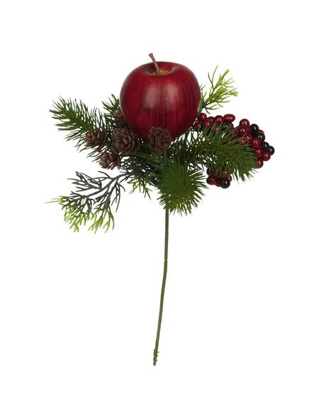 Flower-Power Tannenpick, Apfel, Beeren, Zapfen, rot