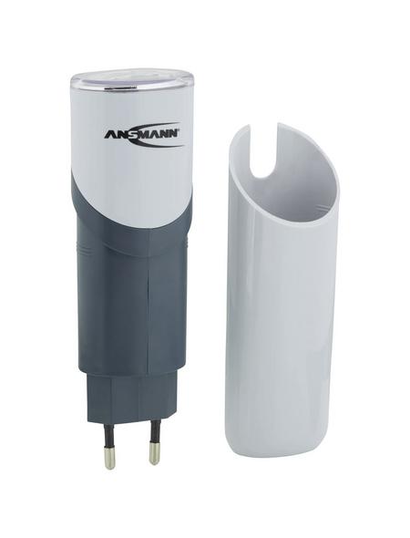 ANSMANN® Taschenlampe, RC2, NiMH-Akku, LED, Grau, Kunststoff