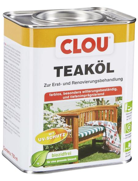 CLOU Teak-Öl, transparent, 0,75 l