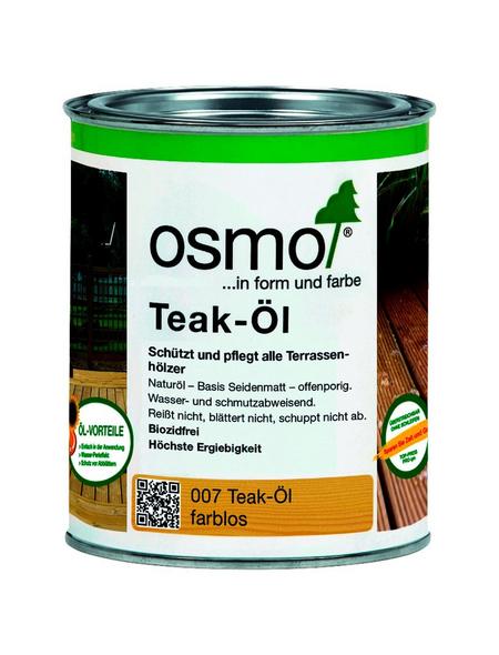 OSMO Teak-Öl, transparent, seidenmatt, 0,75 l
