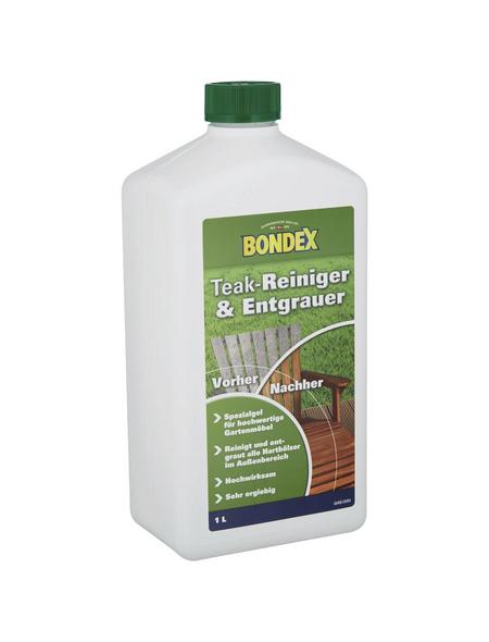 BONDEX Teakreiniger und -entgrauer, Kunststoffflasche, 1 l