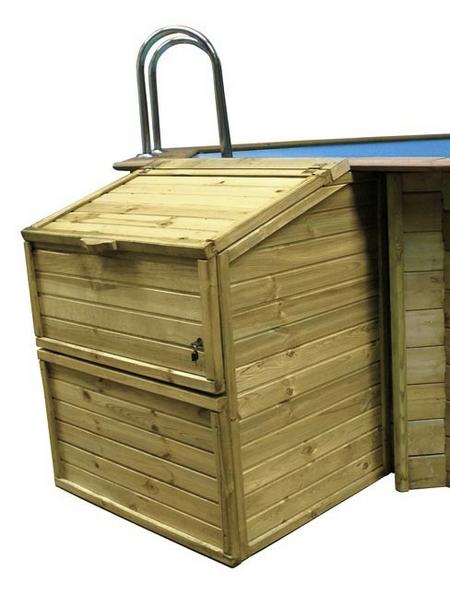 GRE Technikbox, BxHxT: 100 x 143 x 88 cm, Holz, geeignet für: Holzpools