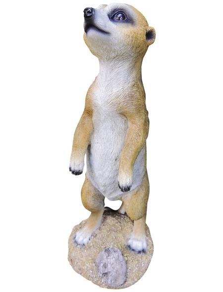 GRANIMEX Teichfigur »Elma«, Erdmännchen, Polystone, braun/weiß
