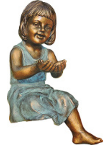 GRANIMEX Teichfigur »EMMA«, Polystone, bronzefarben