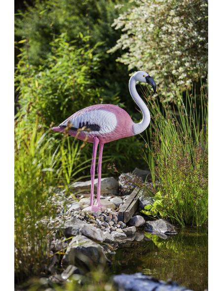 HEISSNER Teichfigur, Flamingo, Höhe: 74  cm, Kunststoff, pink/weiß
