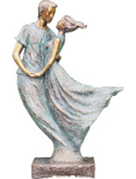 GRANIMEX Teichfigur »Pareja«, Tanzendes Paar, Polystone, bronzefarben