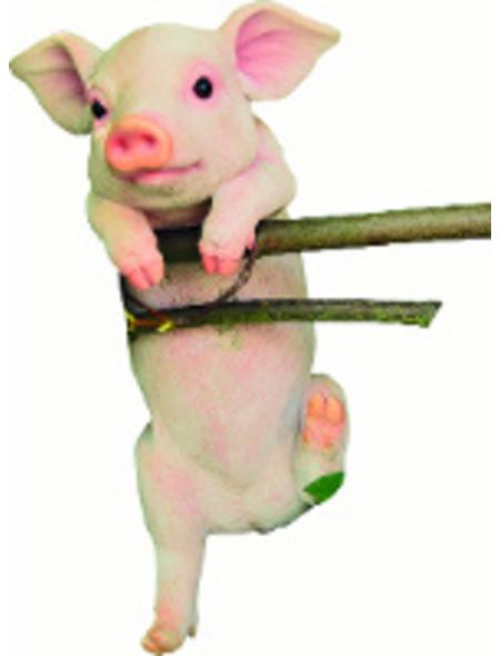 GRANIMEX Teichfigur »Pigi«, Ferkel, Polystone, rosa/weiß