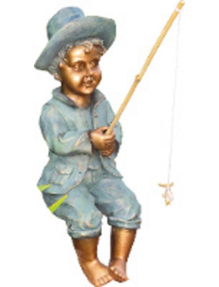 GRANIMEX Teichfigur »Theo«, Angler, Polystone, bronzefarben