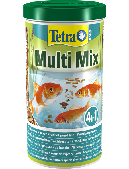 TETRA Teichfischfutter »Pond Mulit Mix«, Flocken, Sticks, 1000 ml (180 g)