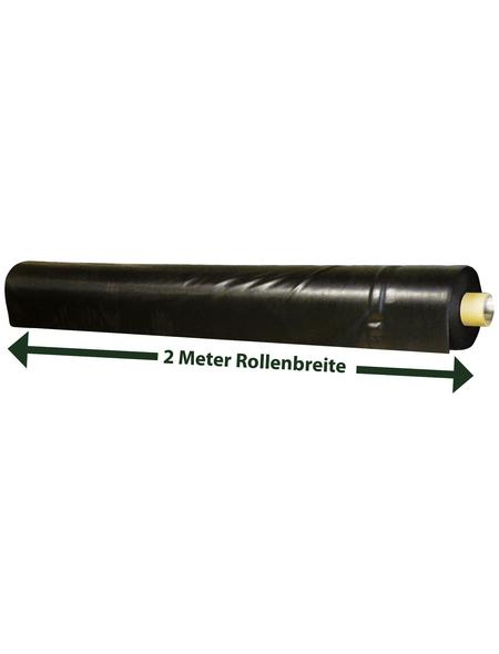 HEISSNER Teichfolie, BxL: 2 x 100 m, Stärke: 0,50 mm, schwarz