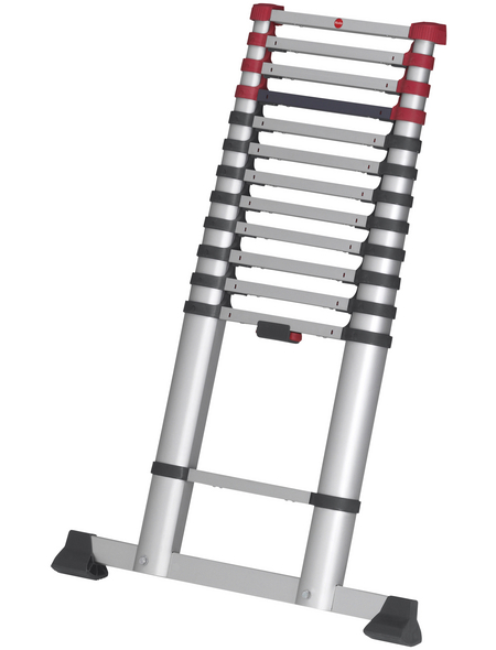 HAILO Teleskopleiter, Anzahl Sprossen: 13, Aluminium