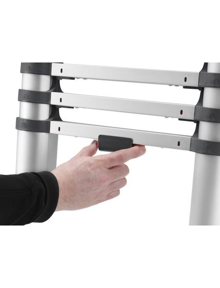 HAILO Teleskopleiter, Anzahl Sprossen: 9, Aluminium