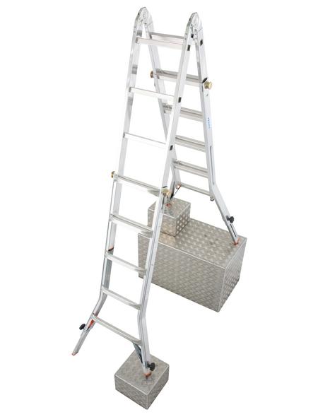 KRAUSE Teleskopleiter »MONTO«, Anzahl Sprossen: 20, Aluminium
