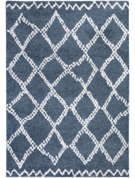 LUXORLIVING Teppich »Mia«, BxL: 67 x 140 cm, blau