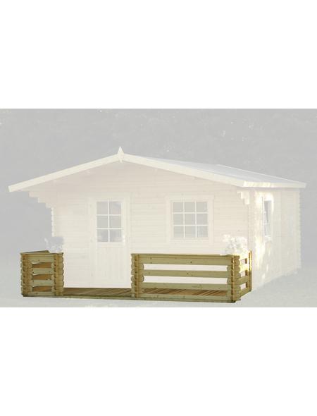 WOLFF Terrasse für Gartenhäuser, Fichtenholz