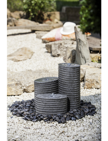HEISSNER Terrassenbrunnen »Chicago«, Höhe: 40 cm, grau, inkl. Pumpe
