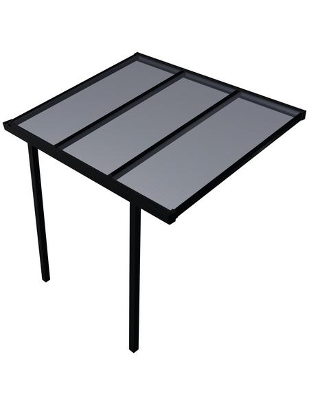 GARDENDREAMS Terrassendach »Easy Edition«, Breite: 300 cm, Dach: Polycarbonat (PC), Farbe: anthrazit