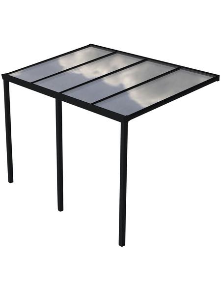 GARDENDREAMS Terrassendach »Easy Edition«, Breite: 400 cm, Dach: Polycarbonat (PC), Farbe: anthrazit