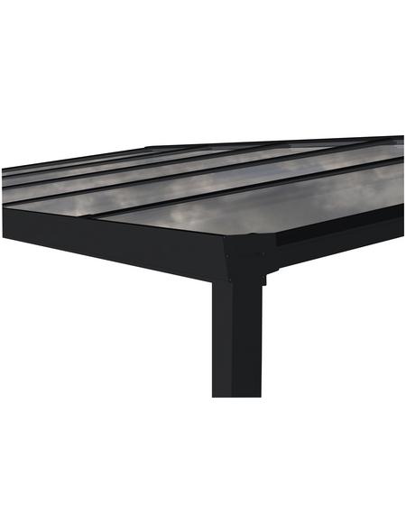 GARDENDREAMS Terrassendach »Easy Edition«, Breite: 500 cm, Dach: Polycarbonat (PC), Farbe: anthrazit