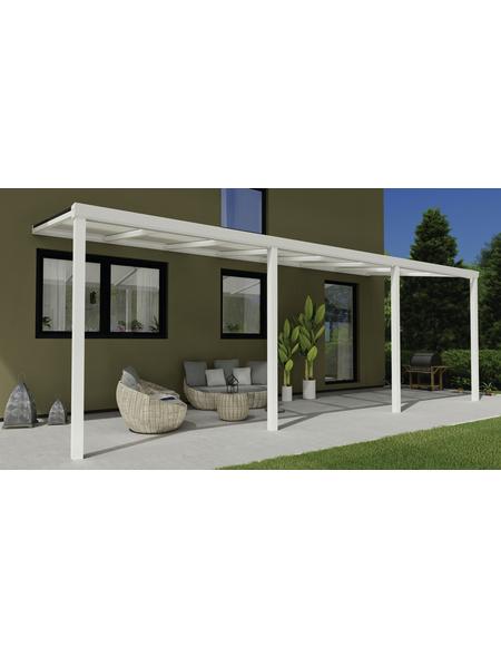 GARDENDREAMS Terrassendach »Easy Edition«, Breite: 700 cm, Dach: Polycarbonat (PC), Farbe: weiß