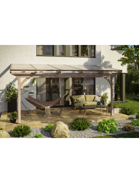 Terrassendach, H (max) x B x T: 272  x 541 x 250 cm