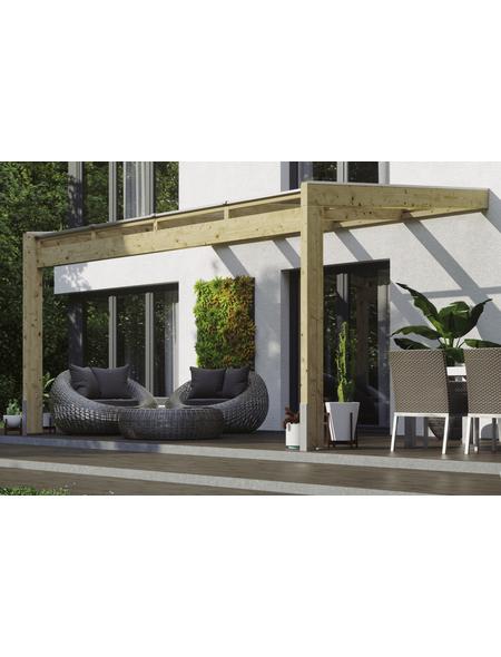 Terrassendach, H (max) x B x T: 274  x 450 x 259 cm