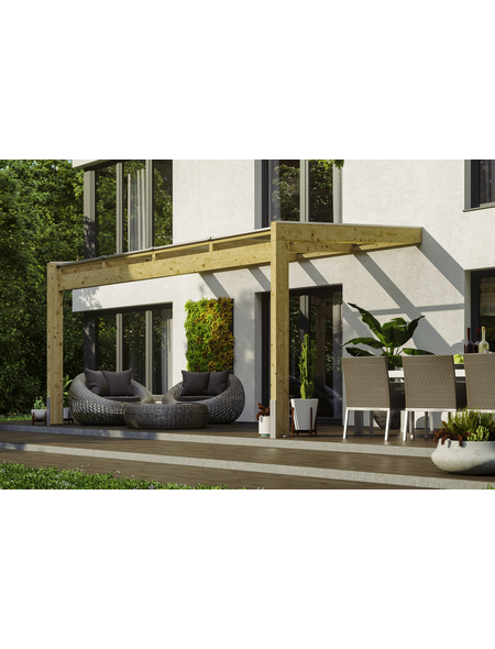 Terrassendach, H (max) x B x T: 280  x 450 x 309 cm