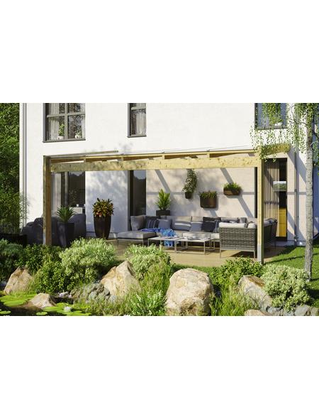 Terrassendach, H (max) x B x T: 280  x 557 x 309 cm