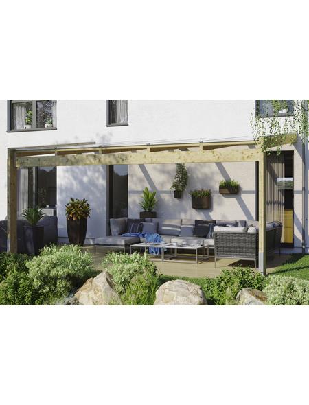 Terrassendach, H (max) x B x T: 287  x 557 x 359 cm