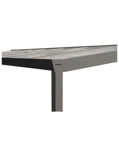 GARDENDREAMS Terrassendach »Legend Edition«, Breite: 1400 cm, Dach: Polycarbonat (PC), Farbe: cremeweiß