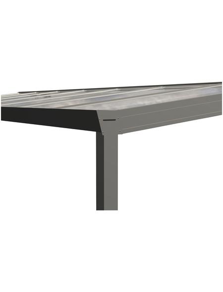 GARDENDREAMS Terrassendach »Legend Edition«, Breite: 1400 cm, Dach: Polycarbonat (PC), Farbe: weiß