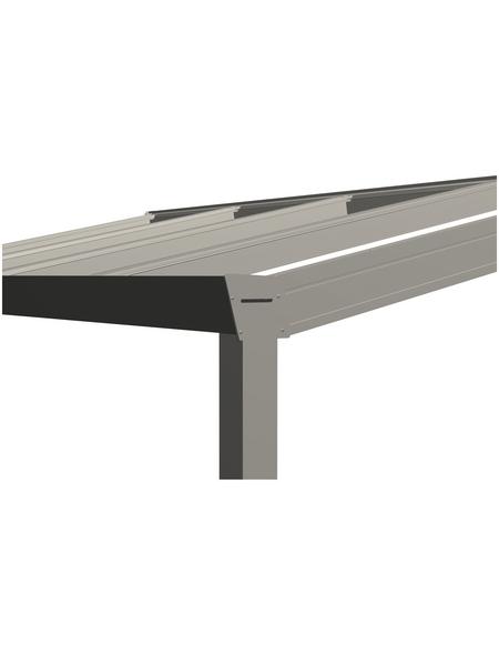 GARDENDREAMS Terrassendach »Legend Edition«, Breite: 400 cm, Dach: Polycarbonat (PC), Farbe: cremeweiß
