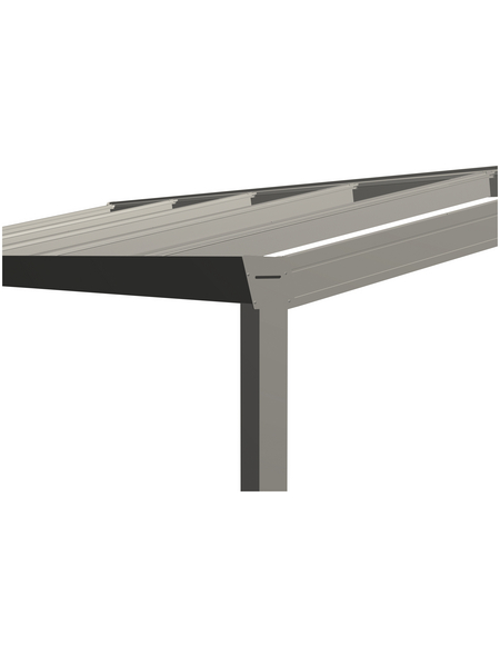 GARDENDREAMS Terrassendach »Legend Edition«, Breite: 500 cm, Dach: Polycarbonat (PC), Farbe: cremeweiß
