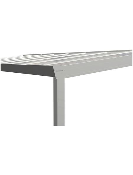 GARDENDREAMS Terrassendach »Legend Edition«, Breite: 600 cm, Dach: Glas, Farbe: weiß