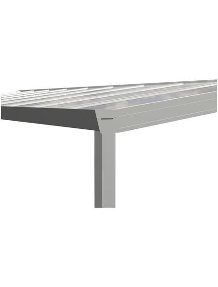 GARDENDREAMS Terrassendach »Legend Edition«, Breite: 700 cm, Dach: Glas, Farbe: weiß