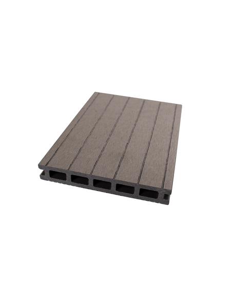 Terrassendiele, Breite: 14 cm, Stärke: 2 cm, glatt
