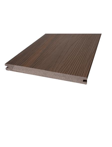 Terrassendiele, Breite: 18,7 cm, Stärke: 2 cm, glatt