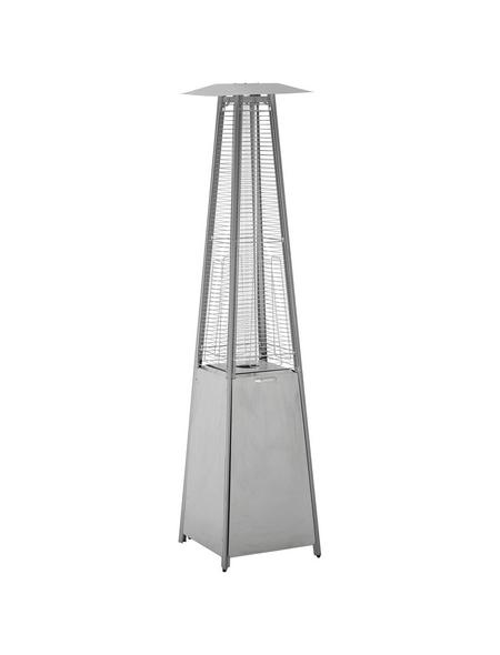 ACTIVA Terrassenheizstrahler »Cheops«, Edelstahl/Glas, stufenlos regulierbar, Höhe: 223 cm, 10500 W