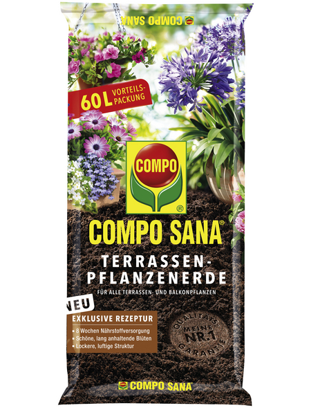 COMPO Terrassenpflanzerde »COMPO SANA®«, für Terrassenpflanzen