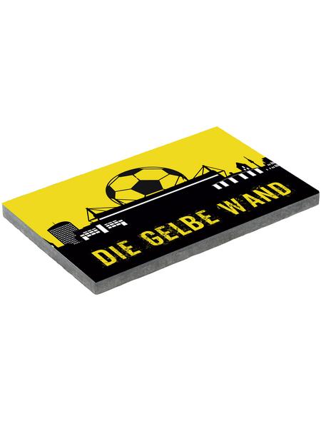 MR. GARDENER Terrassenplatte »Fußball Dortmund«, aus Beton, Kanten: gefast