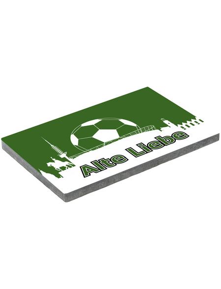 MR. GARDENER Terrassenplatte »Fußball Hannover«, aus Beton, Kanten: gefast