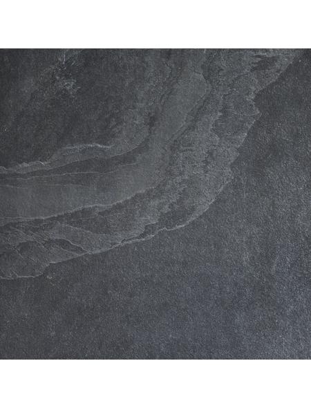MR. GARDENER Terrassenplatte »Schiefer,Slate«, aus Keramik, Kanten: rektifiziert