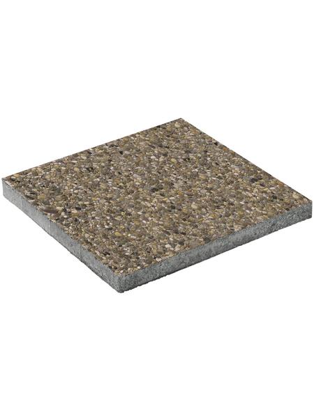 MR. GARDENER Terrassenplatte »Waschbeton«, aus Beton, Kanten: scharfkantig
