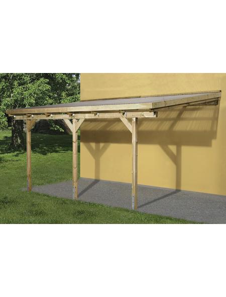WEKA Terrassenüberdachung »671 Gr. 4«, Breite: 427 cm, Dach: Kunststoff, gruen|braun
