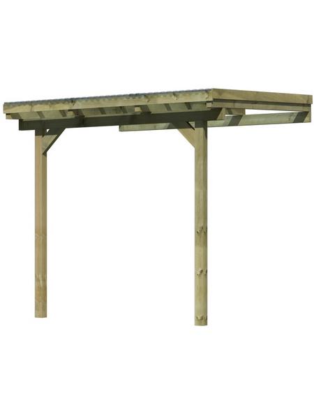 KARIBU Terrassenüberdachung, Breite: 244 cm, Dach: Polyvinylchlorid (PVC), natur